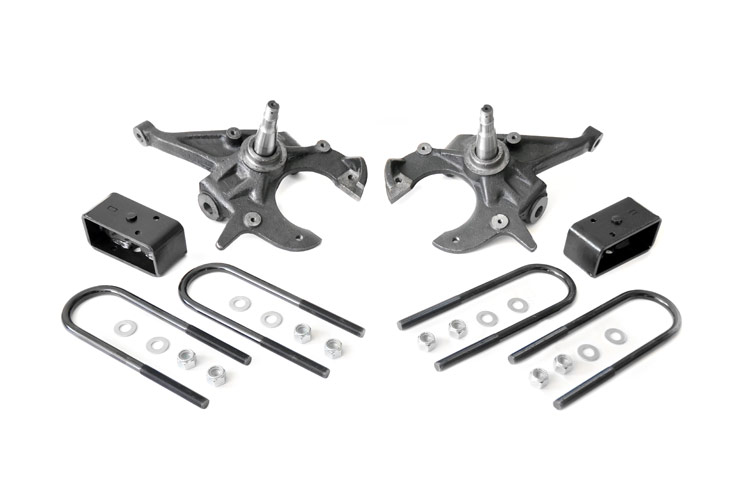 Front 2-inch / Rear 2.5-inch Spindle Lowering Kit